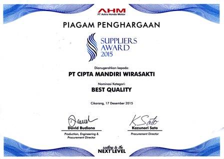 Best Quality AHM 2015