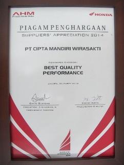 AHM - Best Quality Performance 2014