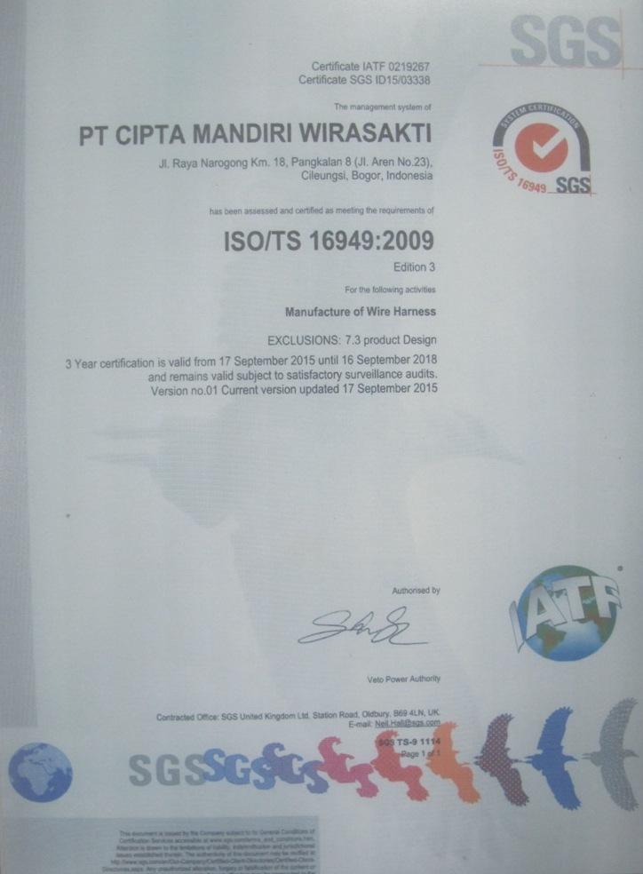 Sertifikat ISO_TS 16949 PT.CMW