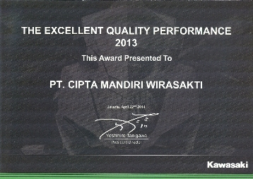 Kawasaki - The Excellent Quality Performance 2013